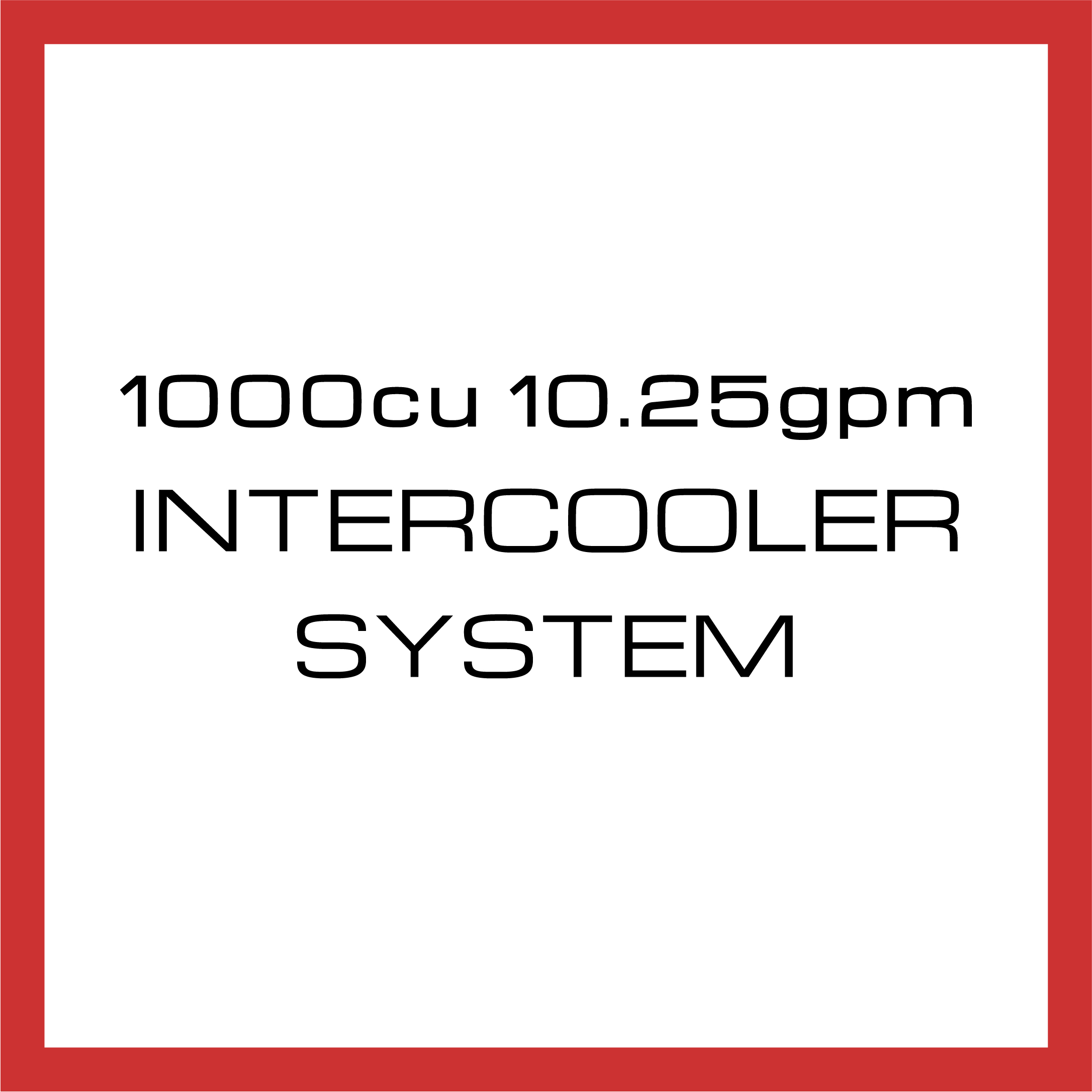 Department Of Boost Titanic Triple 1000cu in 10.25gpm Intercooler System Upgrade Package