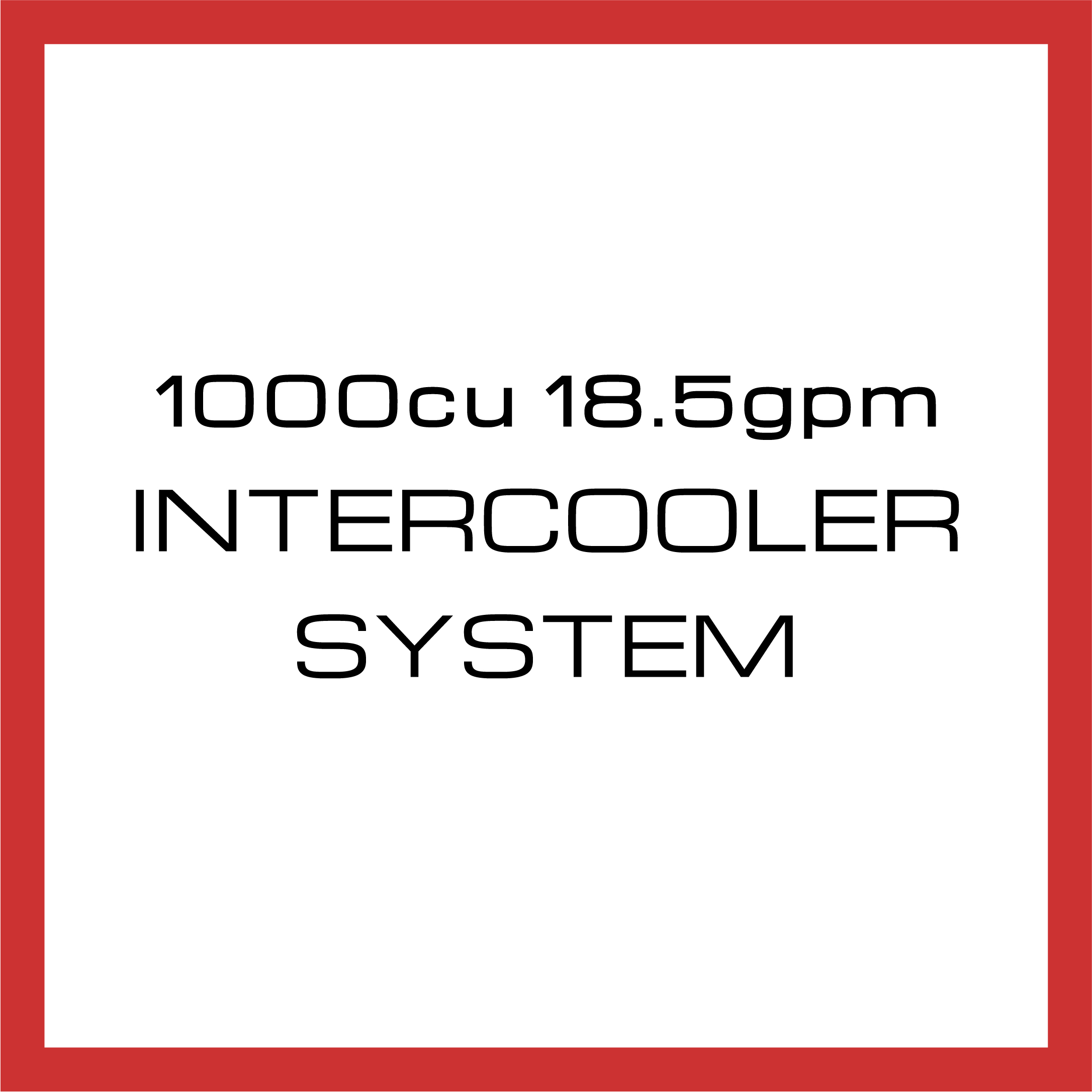 Department Of Boost Titanic Triple 1000cu in 18.5gpm Intercooler System Upgrade Package