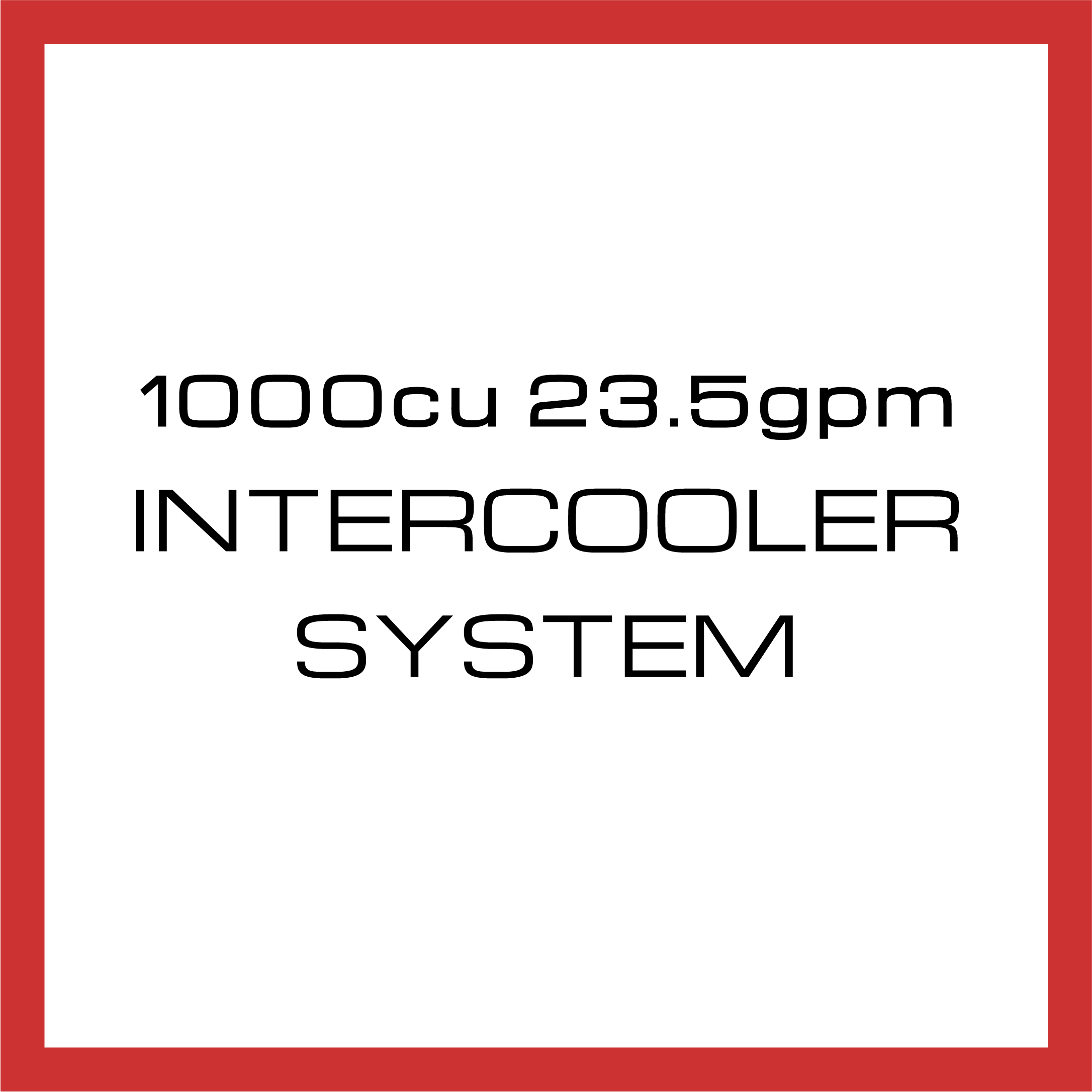 Department Of Boost Titanic Triple 1000cu in 23.5gpm Intercooler System Upgrade Package