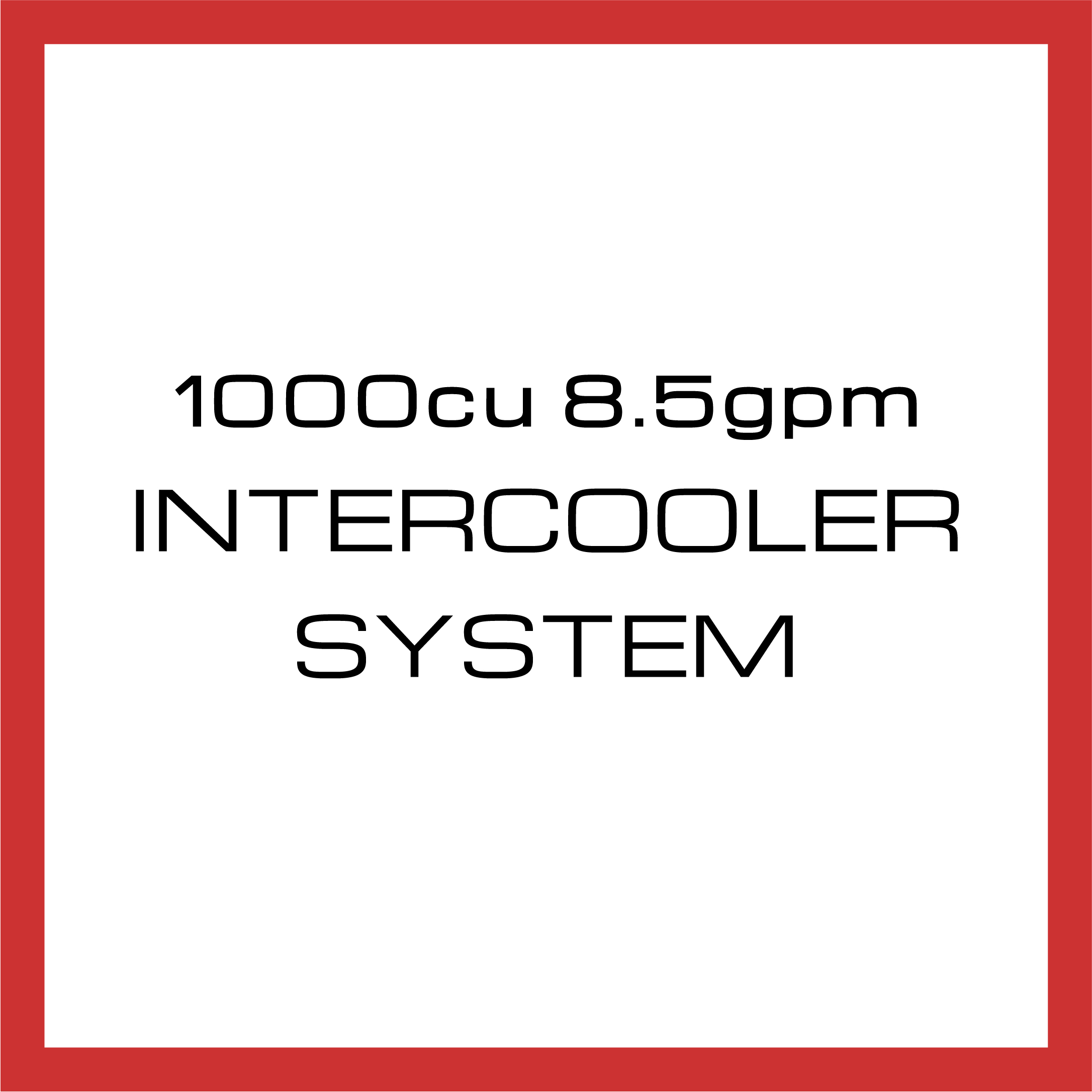 Department Of Boost Titanic Triple 1000cu in 8.5gpm Intercooler System Upgrade Package