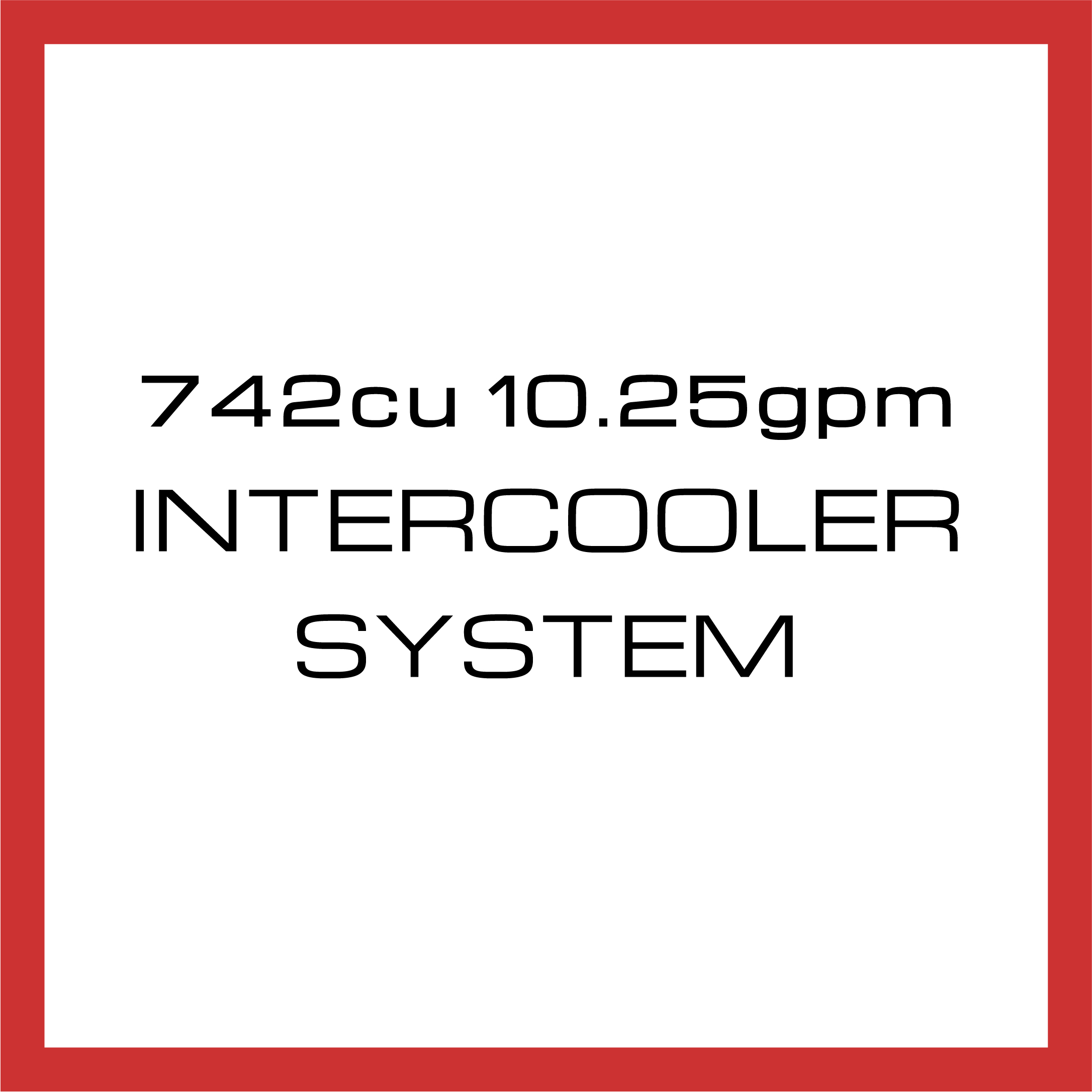 Department Of Boost Super Single 742cu in 10.25gpm Intercooler System Upgrade Package