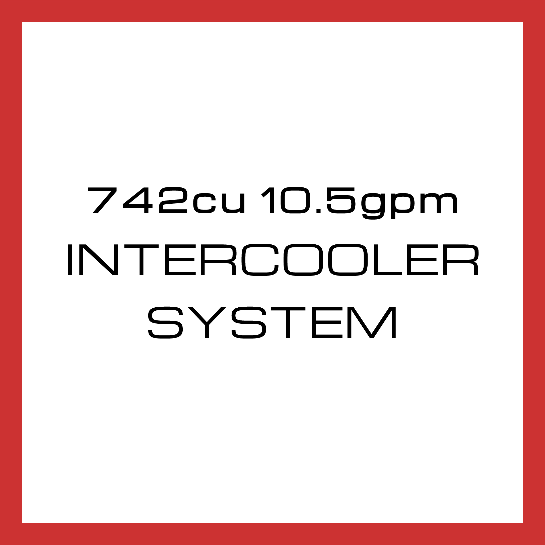 Department Of Boost Super Single 742cu in 10.5gpm Intercooler System Upgrade Package