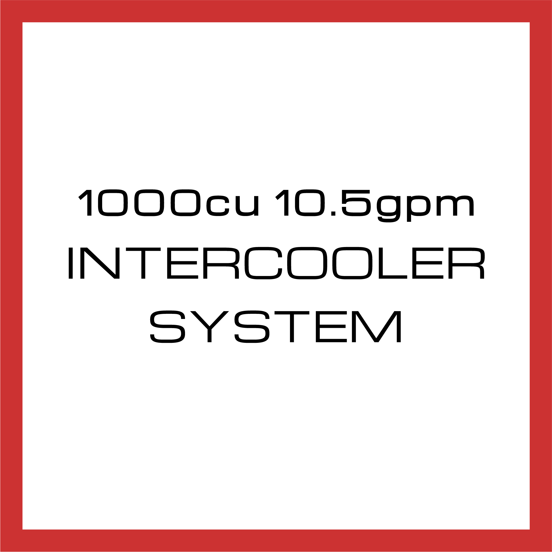 Department Of Boost Titanic Triple 1000cu in 10.5gpm Intercooler System Upgrade Package