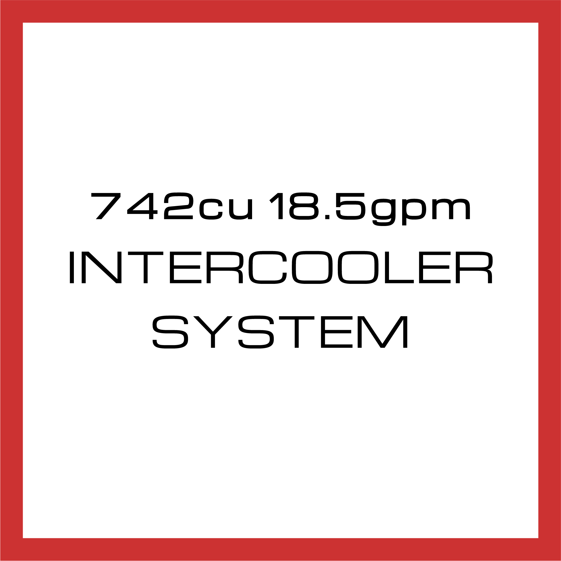 Department Of Boost Super Single 742cu in 18.5gpm Intercooler System Upgrade Package