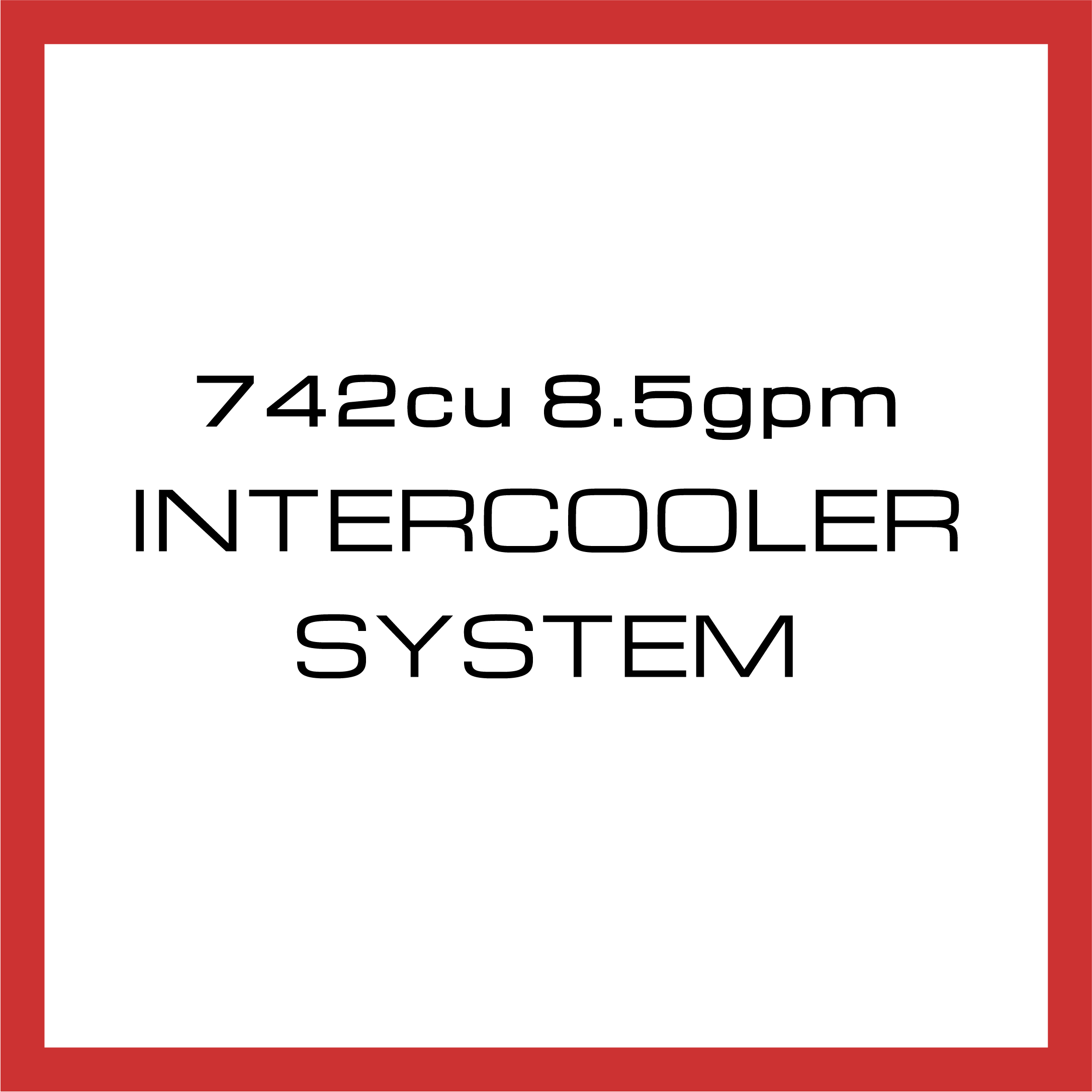 Department Of Boost Super Single 742cu in 8.5gpm Intercooler System Upgrade Package