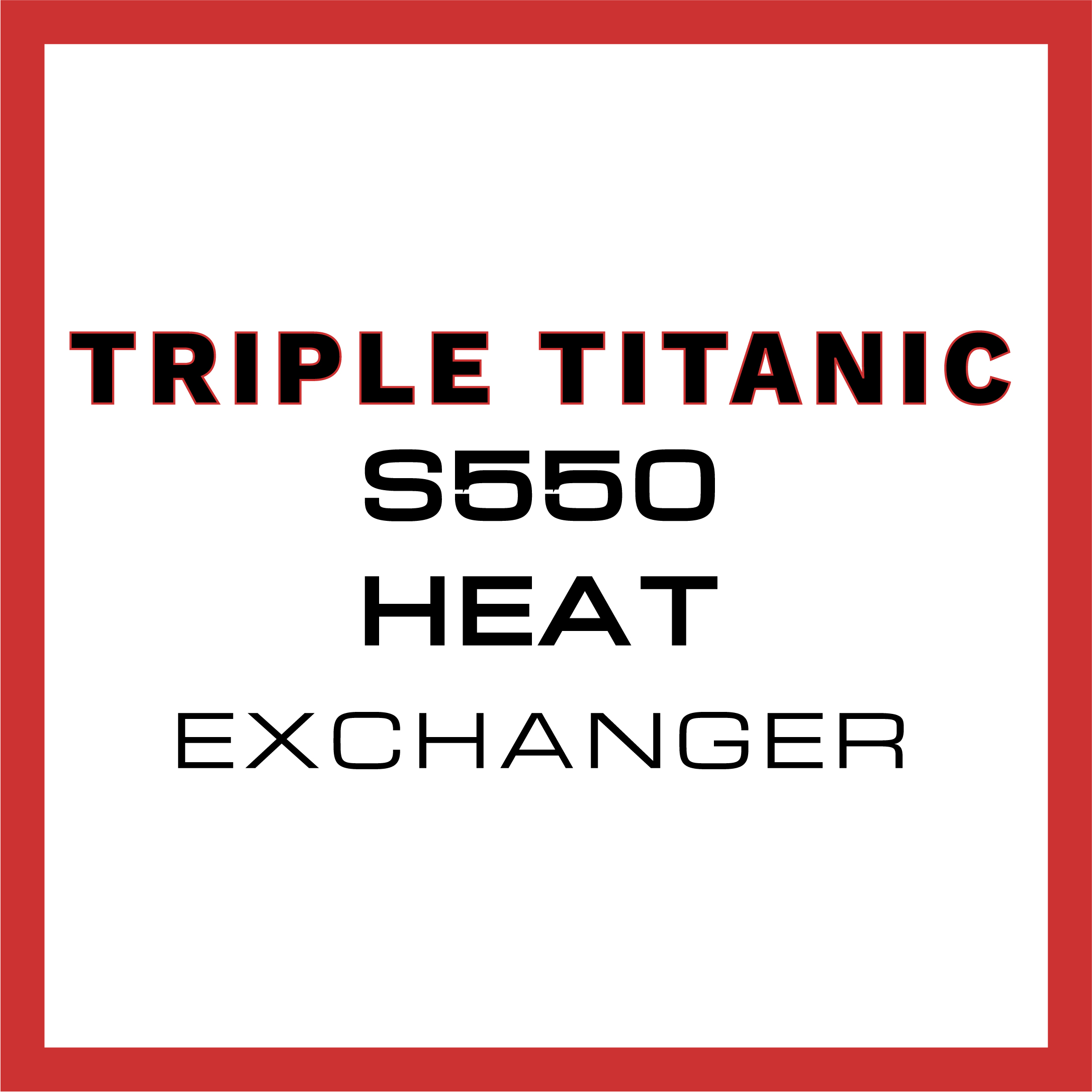 Titanic Triple Heat Exchanger S550 Mustang